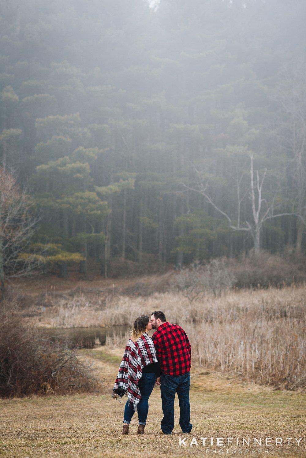 Mendon Ponds Park Rochester Winter Engagement Session Photography