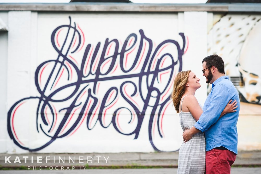 Rochester Street Art Spring Engagement Session Photography