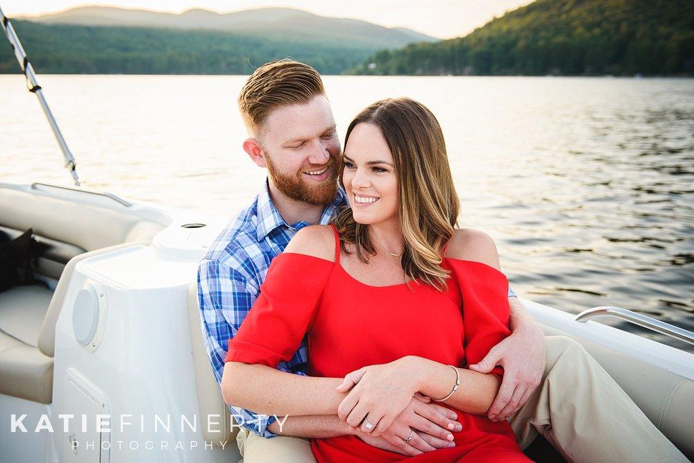 Sacandaga Lake Adirondacks Engagement Session Photography