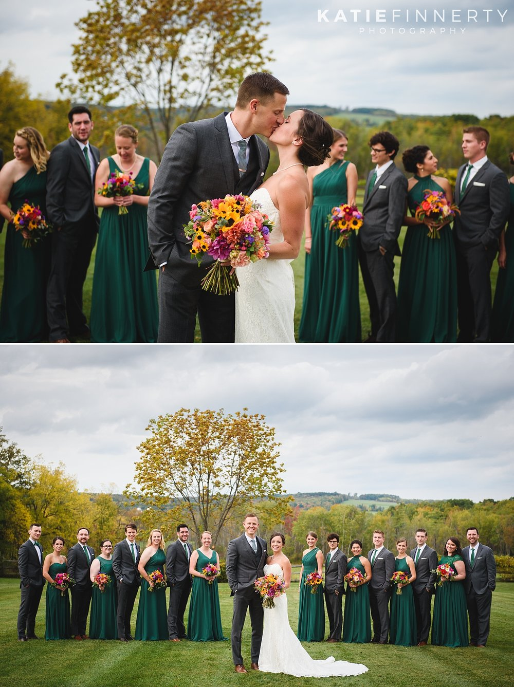Finger Lakes Silver Queen Farm Fall Wedding Photography