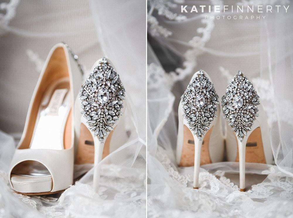 Strathallan Hotel Rochester Badgley Mischka Shoes Wedding Photography