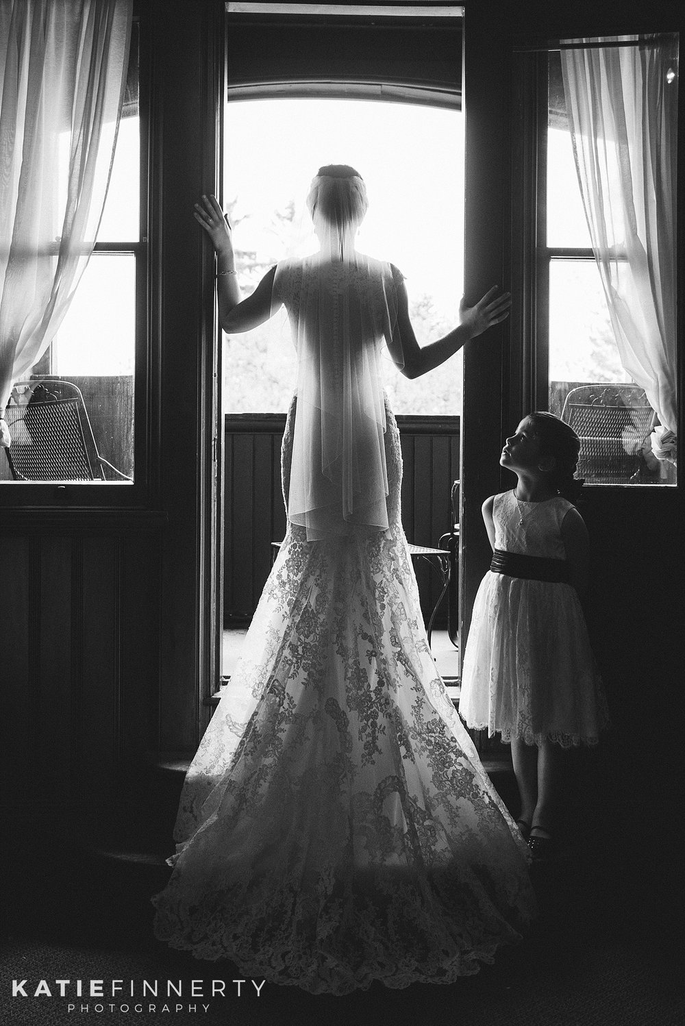 Belhurst Castle Bride Silhouette Wedding Photography