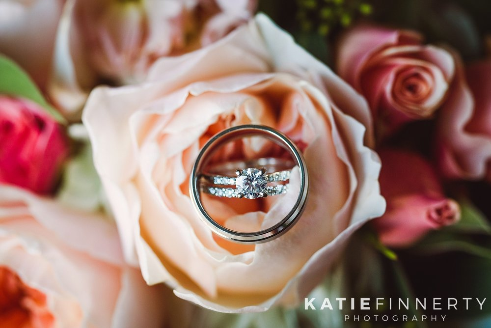 Wedding Rings and Flowers Rochester Wedding Photography