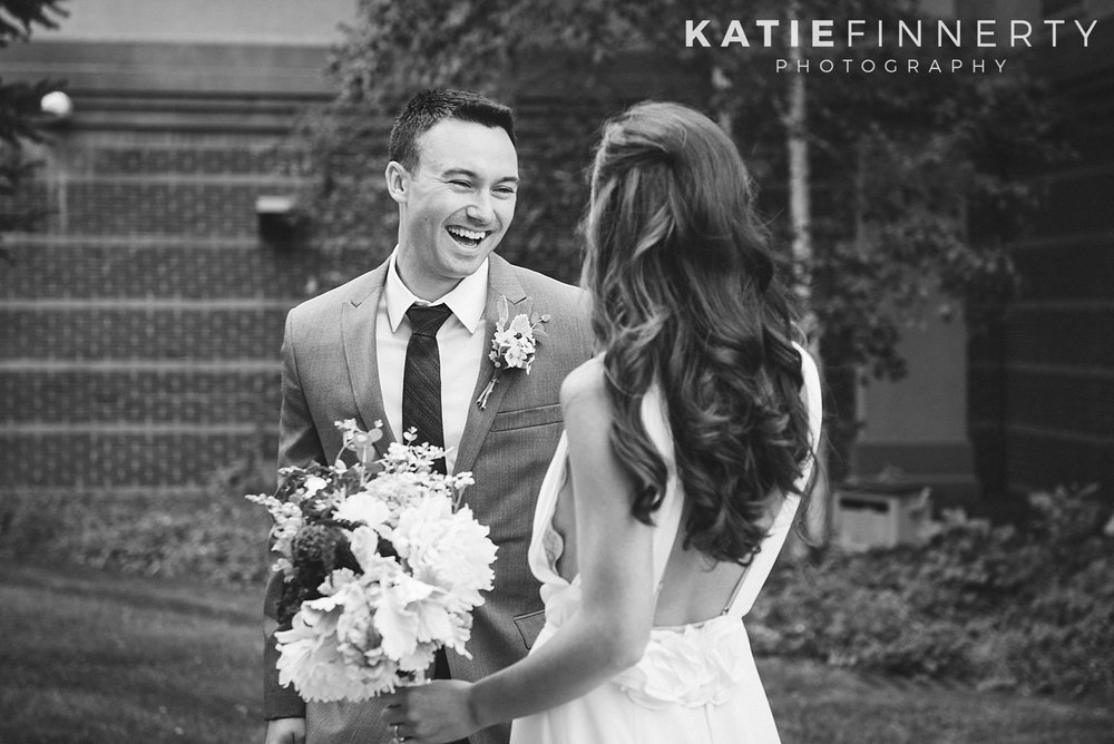Oneonta First Look Wedding Photography