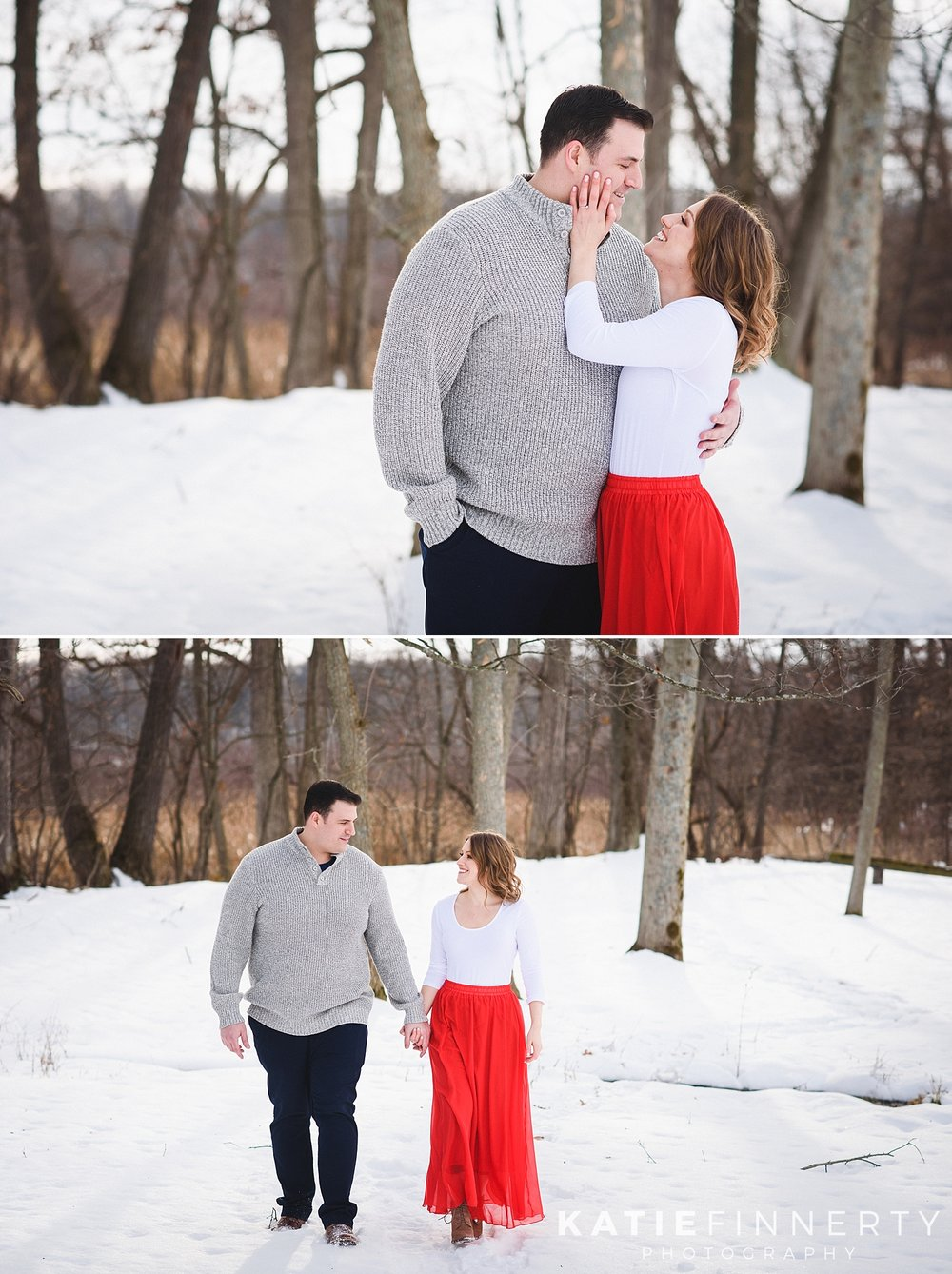 Mendon Ponds Park Rochester Winter Engagement Photography
