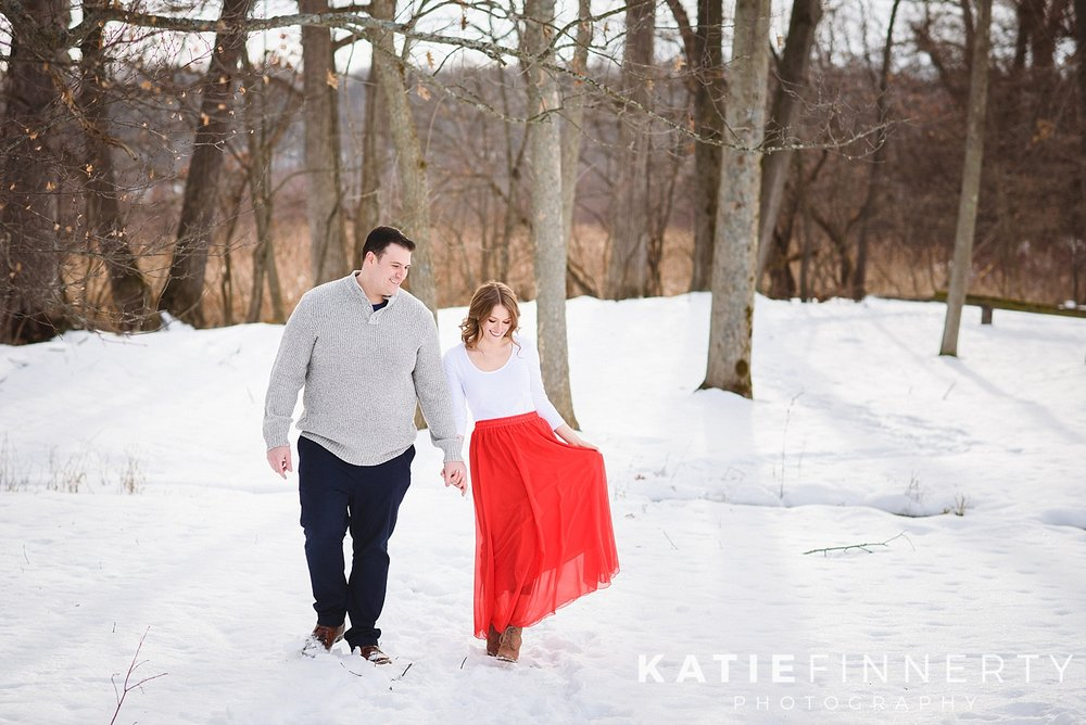 Mendon Ponds Park Rochester Winter Engagement Session