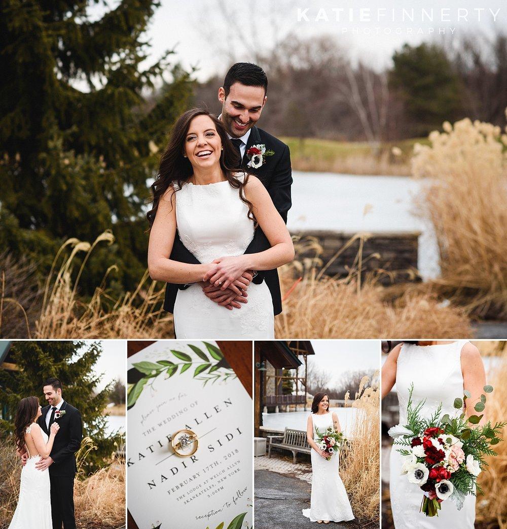 Lodge at Welch Allyn Skaneateles Winter Wedding