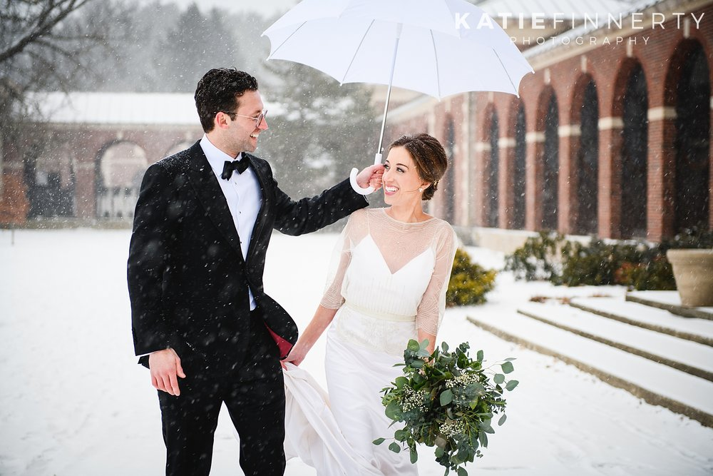 Hall of Springs Saratoga Winter Wedding Photography