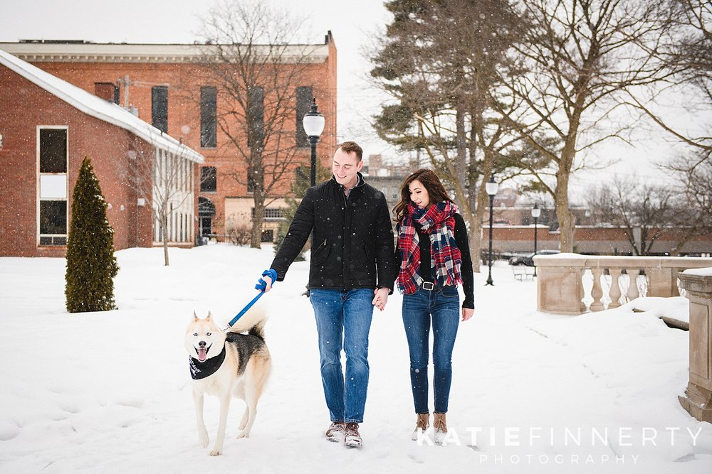 Saratoga Winter Engagement Session Photography