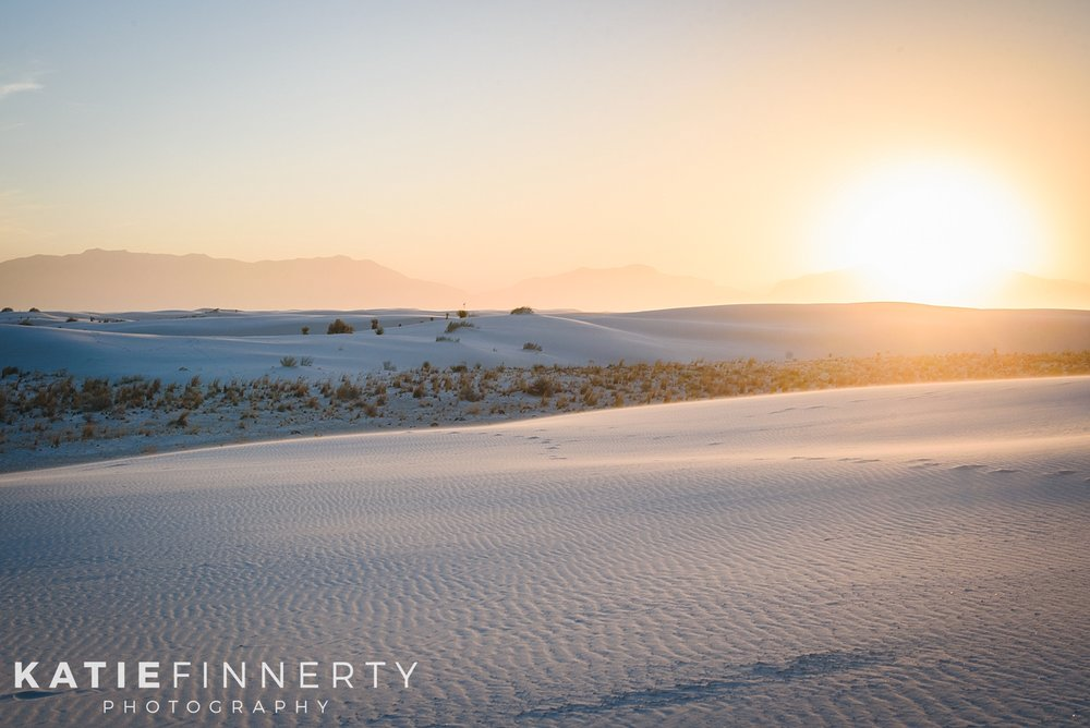 White Sands National Monument Sunset Travel Photography