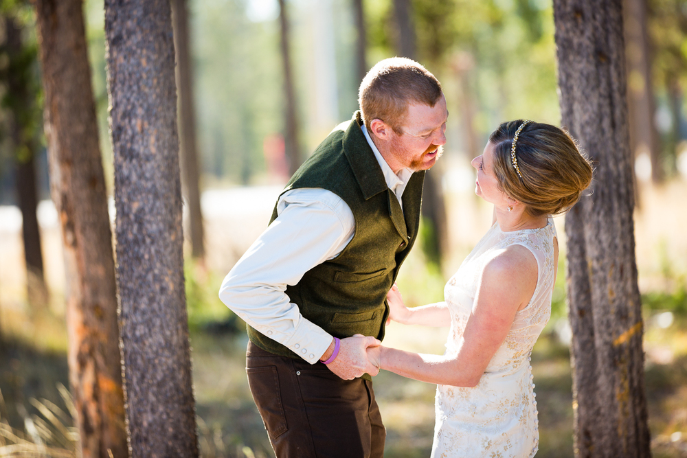 Yellowstone Wedding Becky Brockie Photography First Look Photo
