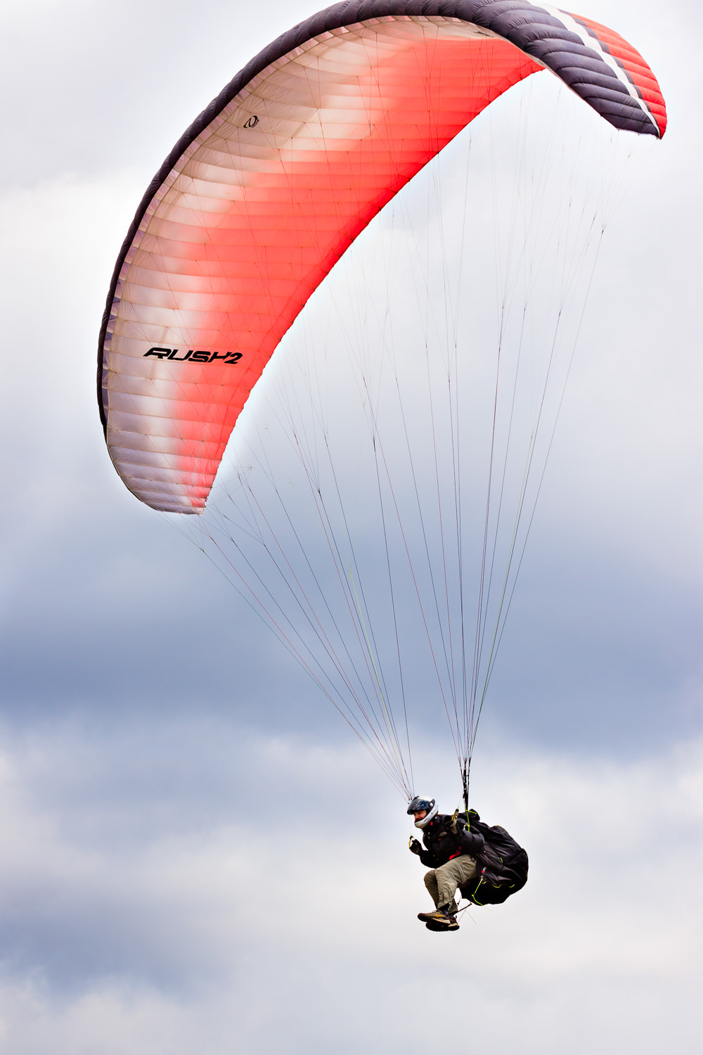 2011 Richard paragliding at a Missoula site.