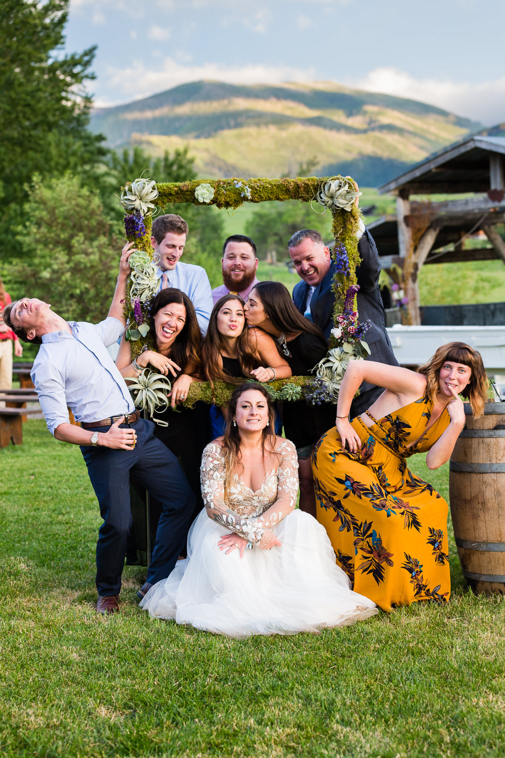 bozeman-hart-ranch-wedding-friends-pose-with-bride.jpg