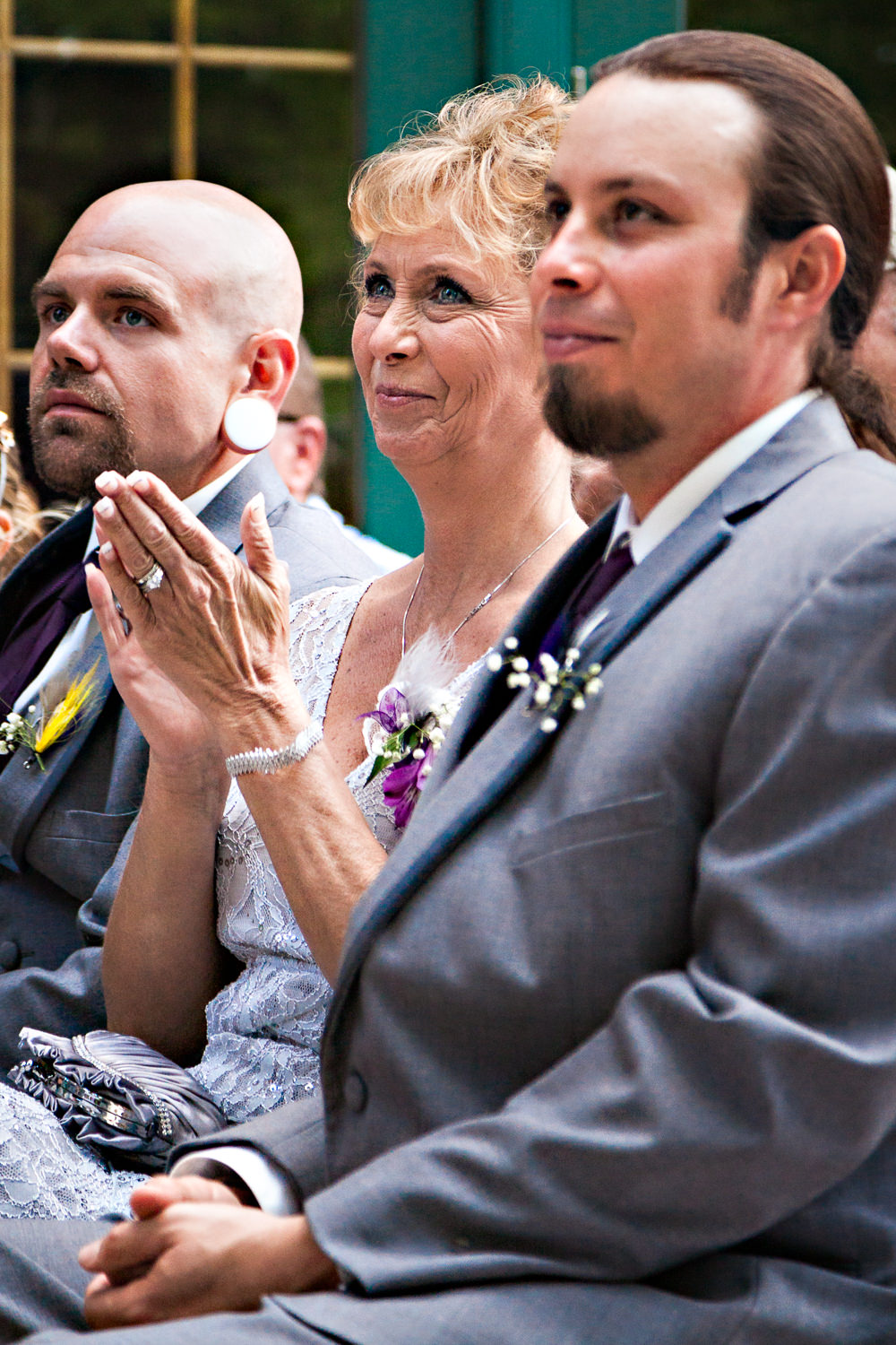 rock-creek-resort-red-lodge-ceremony-grooms-mom-claps.jpg