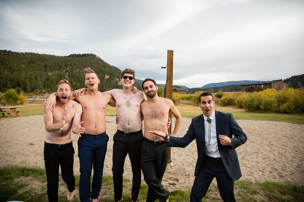 big-sky-montana-gallatin-riverhouse-wedding-men-posing-without-shirts.jpg