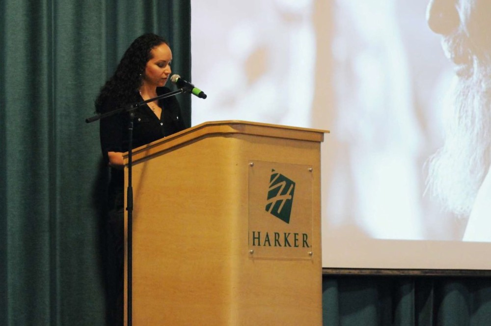Speaking at The Harker School in San Jose, California, 2011.