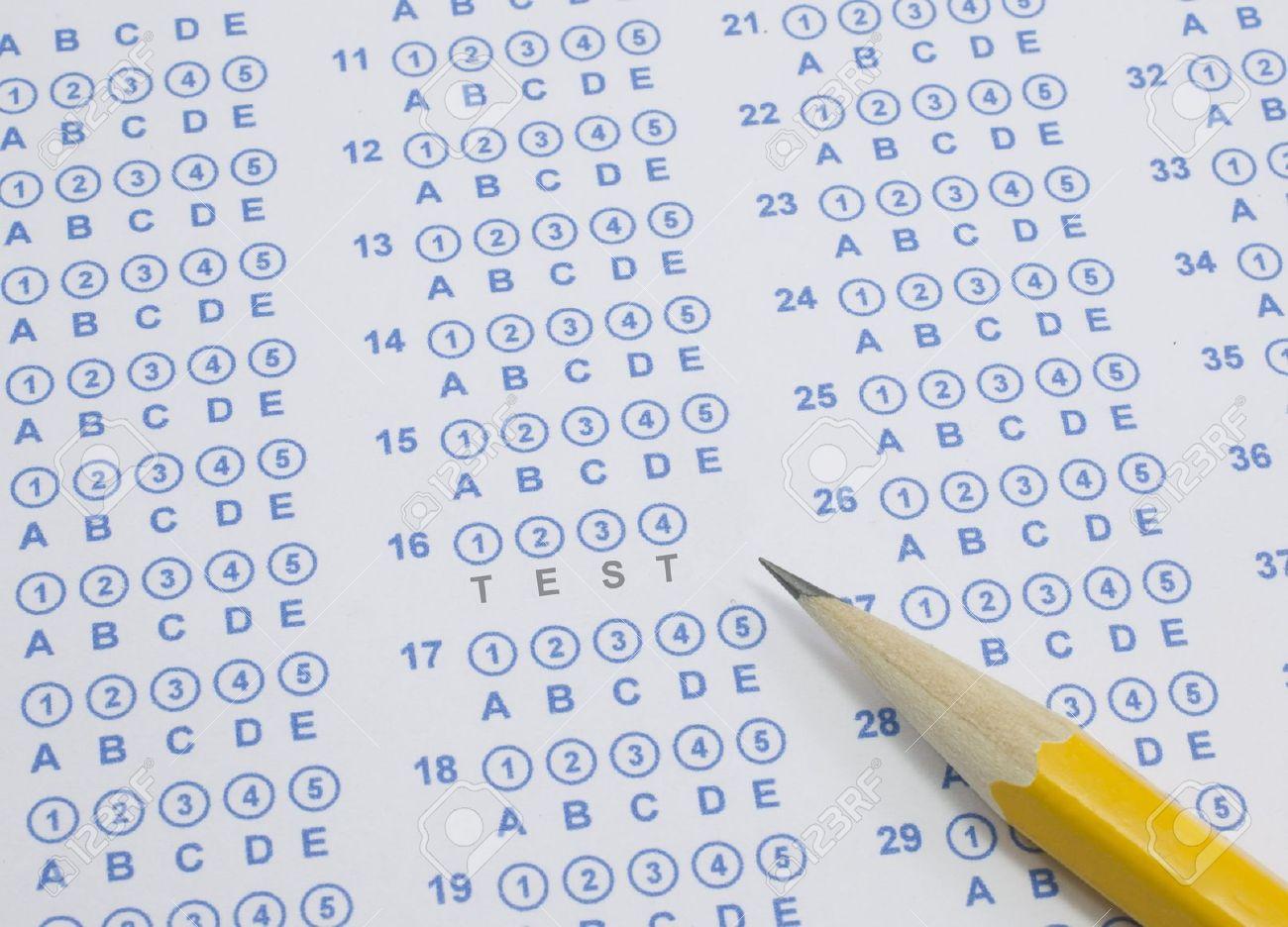 Тест на бумаге с помощью рисунка