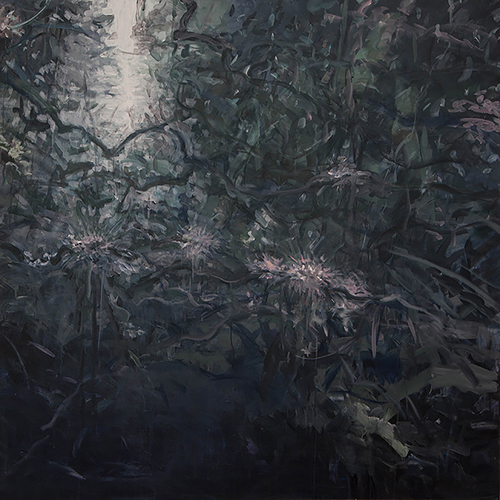 Jungle Vines 6,  acrylic on canvas,   48x48   2013