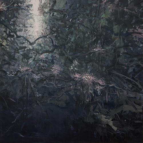 Jungle Vines 6,  acrylic on canvas,  48x48   2013