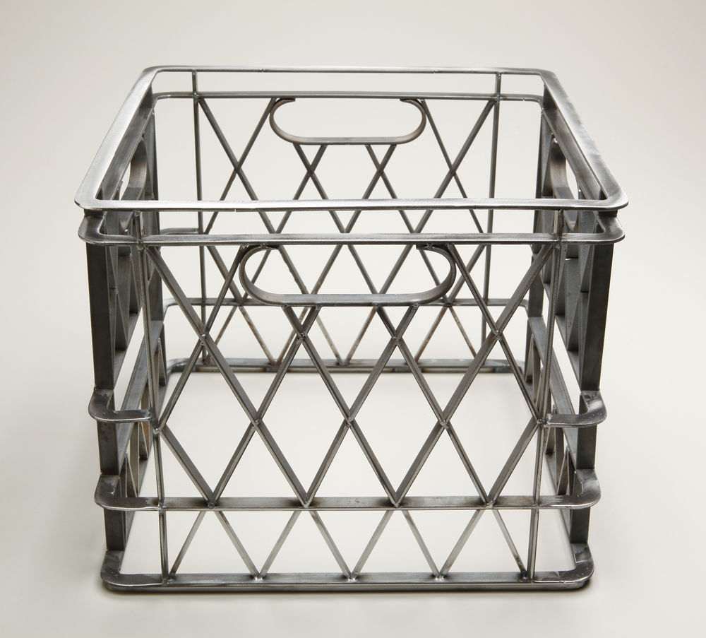 "Daniel Petraitis,  Crate , Fabricated steel 20"" x 50"" x 6"" 2010"
