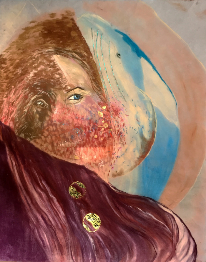 Blue Whale Klimt Chandra Web