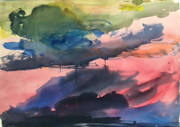 "Untitled 23, watercolor, 30"" x 42"" 2012"