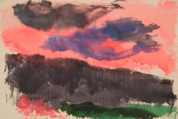 "Untitled 10, watercolor, 28"" x 40"" 2012"
