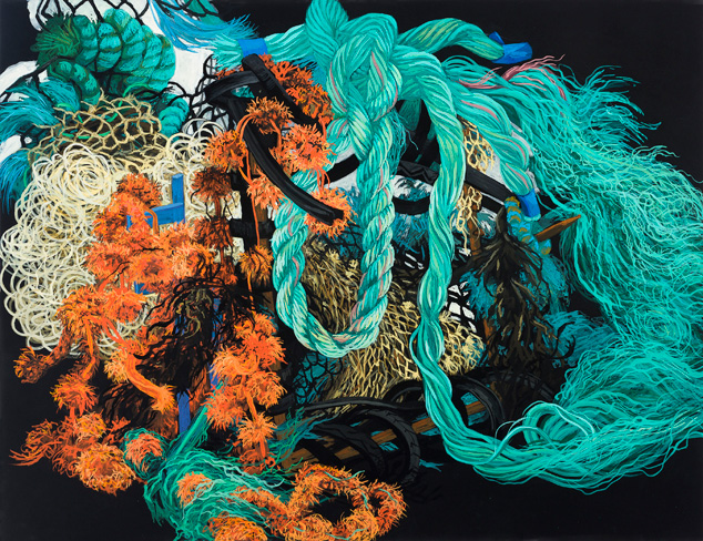"Unraveled-Ballinglen , gouache on paper, 23"" x 30"" 2012"