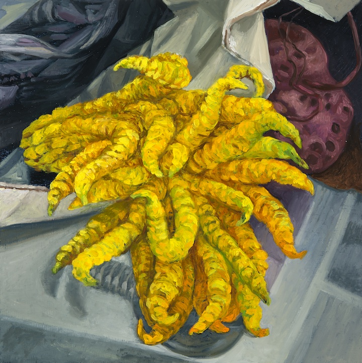 "Buddha Hand , oil on panel, 12"" x 12"" 2016"