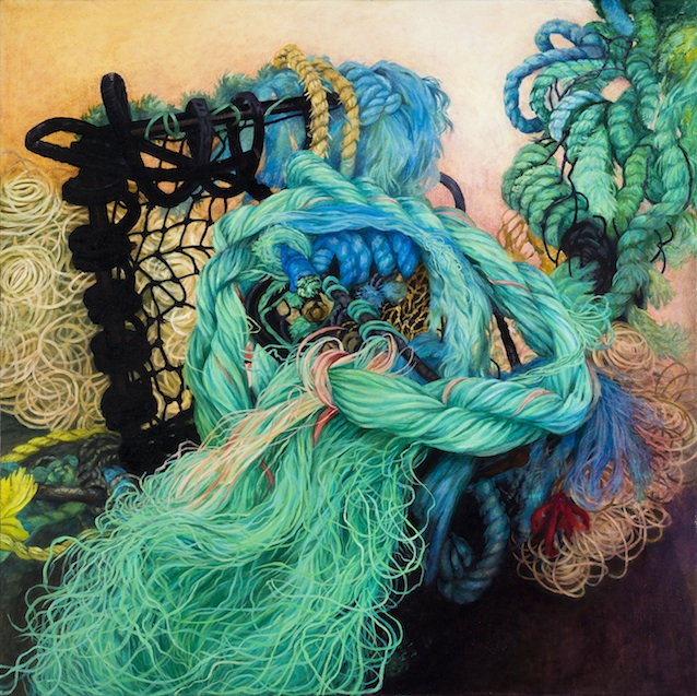 "Flotsam, Ballinglen , oil on canvas, 36"" x 36"" 2012"