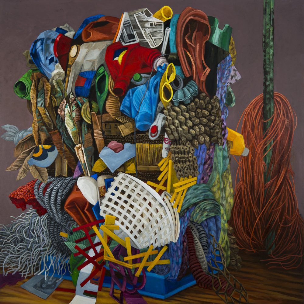 "Stack , oil on canvas, 60"" x 60"" 2015"