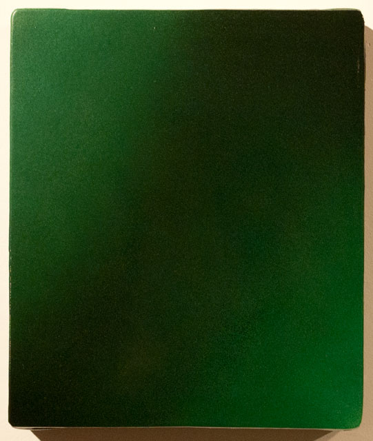 "Blurred Limes , enamel, canvas on panel, 11"" x 13"" 2014"
