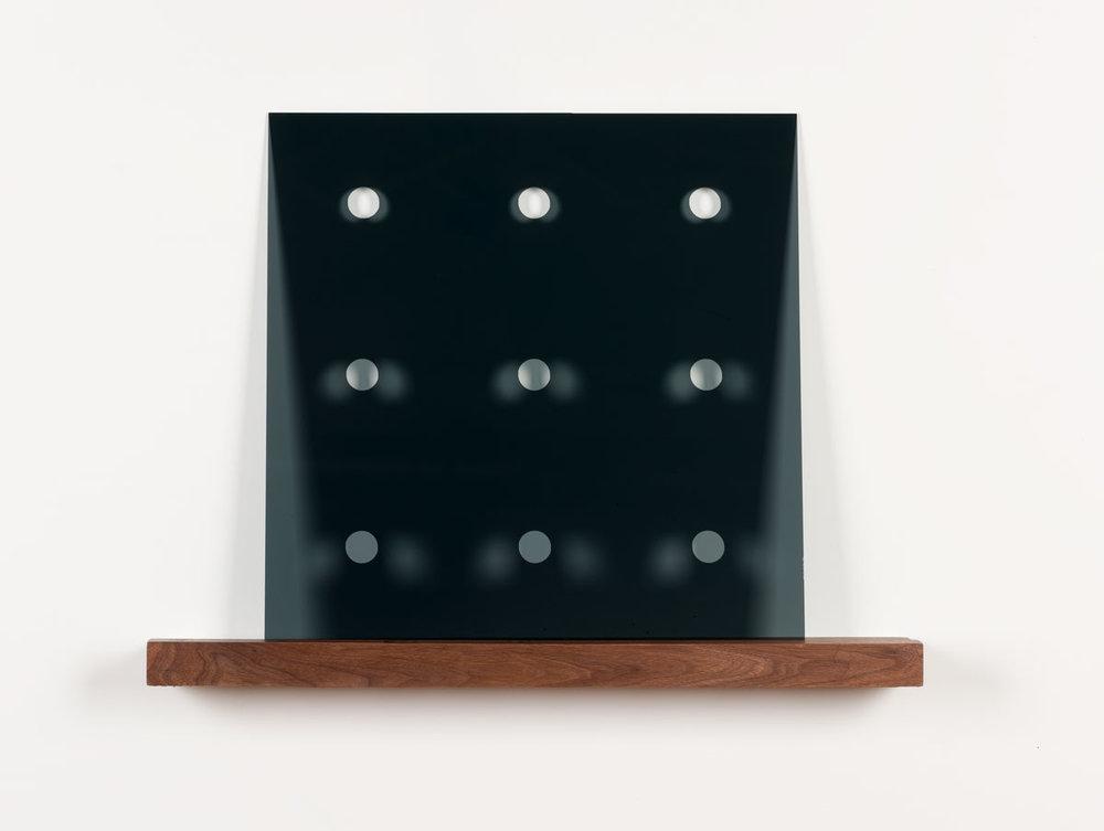 "Jacque Liu,  Lilt-E,  wood, plexiglas, 18"" x 23.5"" x 3"" 2016"