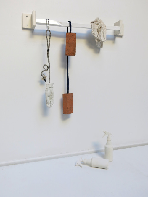 Jonathan Santoro,  1000 Pardons,  cast plaster, wood, PVC, foam, rope, variable 2016