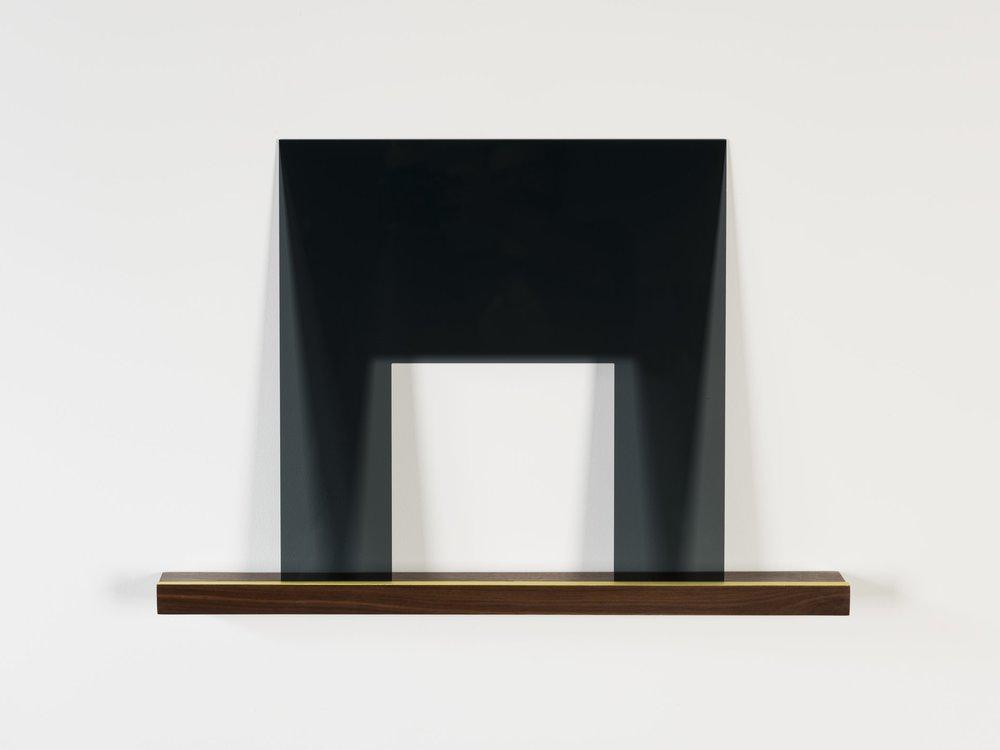 """Jacque Liu,  Lilt-B,  wood, plexiglas, paint, 18"""" x 23.5"""" x 2.25"""" 2016"""