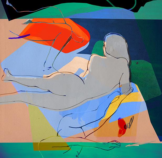 """Paradise , archival pigment print, 45"""" x 43.8"""" 2016  Unique"""