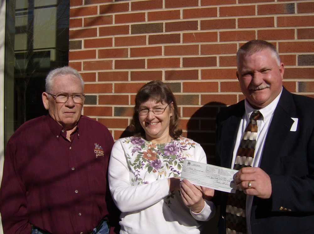 Central Oklahoma Quail Forever Chapter with another donation to ODWC for habitat improvements in Oklahoma.