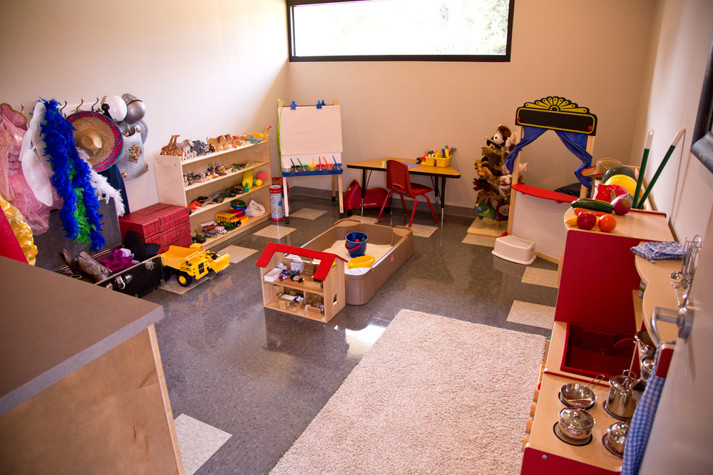 One of the play therapy suites at JBU's CARE Clinic