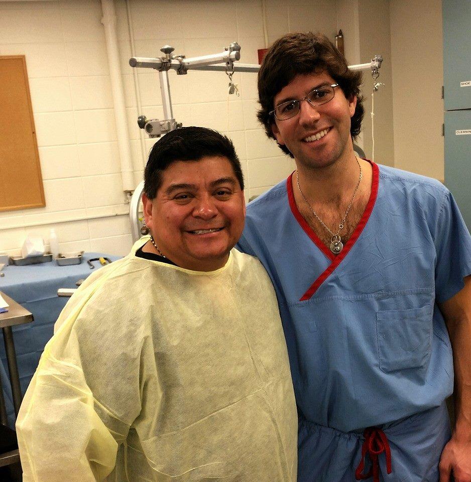 Dr. Loredo with Hand Surgery Fellow, Pablo Zancolli