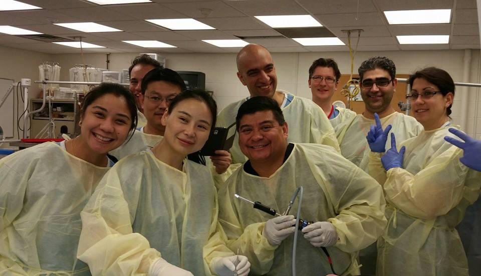Dr. Loredo with the Kleinert & Kutz Hand Surgery Fellows