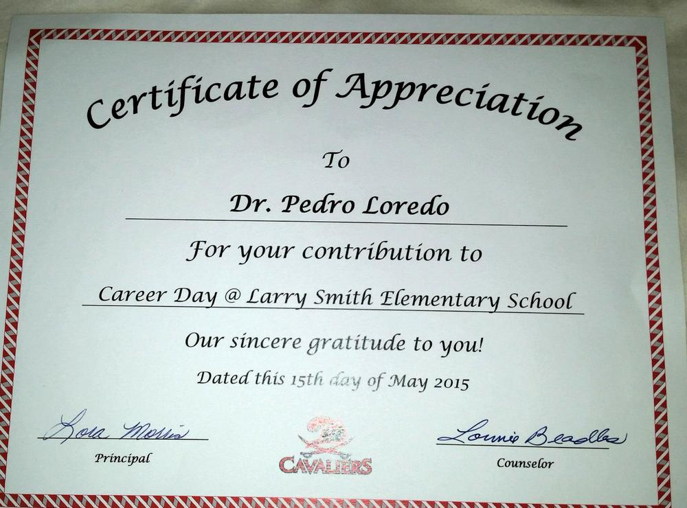 Dr loredo speaks at career day at larry smith elementary school dr loredo speaks at career day at larry smith elementary school blog yadclub Image collections