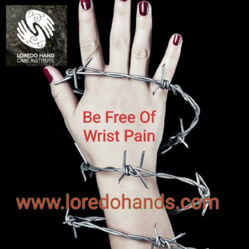 Dr. Pedro Loredo and staff are ready to help you.  So you can free yourself from wrist pain.  www.loredohands.com (972)426-2708