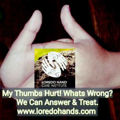 Dr. Pedro Loredo, Fellowship Board Certified Hand Surgeon can help with your Thumb issues.    Loredo Hand Care Institute, www.loredohands.com , Office 972-939-4974,   Bedford, Colleyville, Euless, Fort Worth, Grapevine, Haltom City, Hurst, North Richland Hills, Southlake, Keller, Roanoak, Westlake, Trophy Club, Haslet, Arlington, Richland Hills, Haltom City, Irving, Las Colinas, Dallas,  Grand Prairie, Saginaw, Melody Hills, Lake Worth