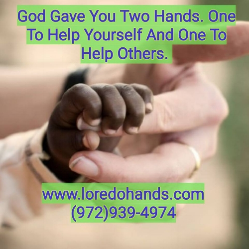God gave you two Hands. One to help yourself and one to help others.  Dr. Pedro Loredo Fellowship Trained and Board Certified Hand Surgeon is here to help you.  With your finger, hand, wrist, forearm, and elbow pain.  www.loredohands.com 972-939-4974