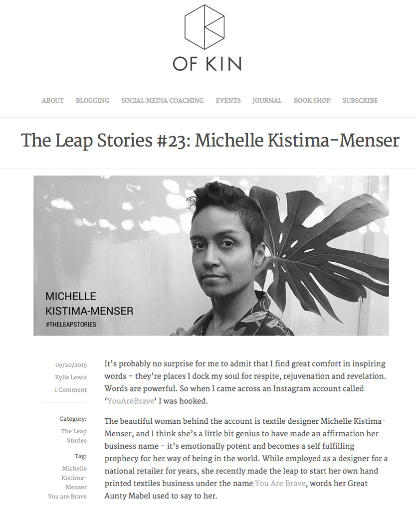Ofkin The Leap Stories Interview with YOU ARE BRAVE