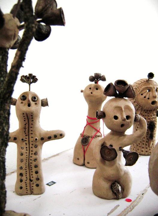 Reiko Azuma's clay people