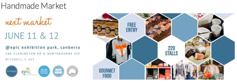 Handmade Canberra Market June 11-12, 2016