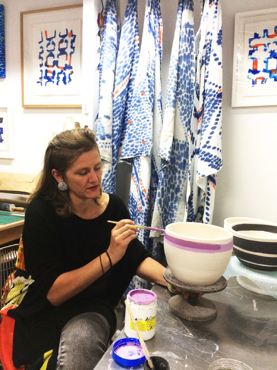 Christina Mclean in her studio Trade The Mark
