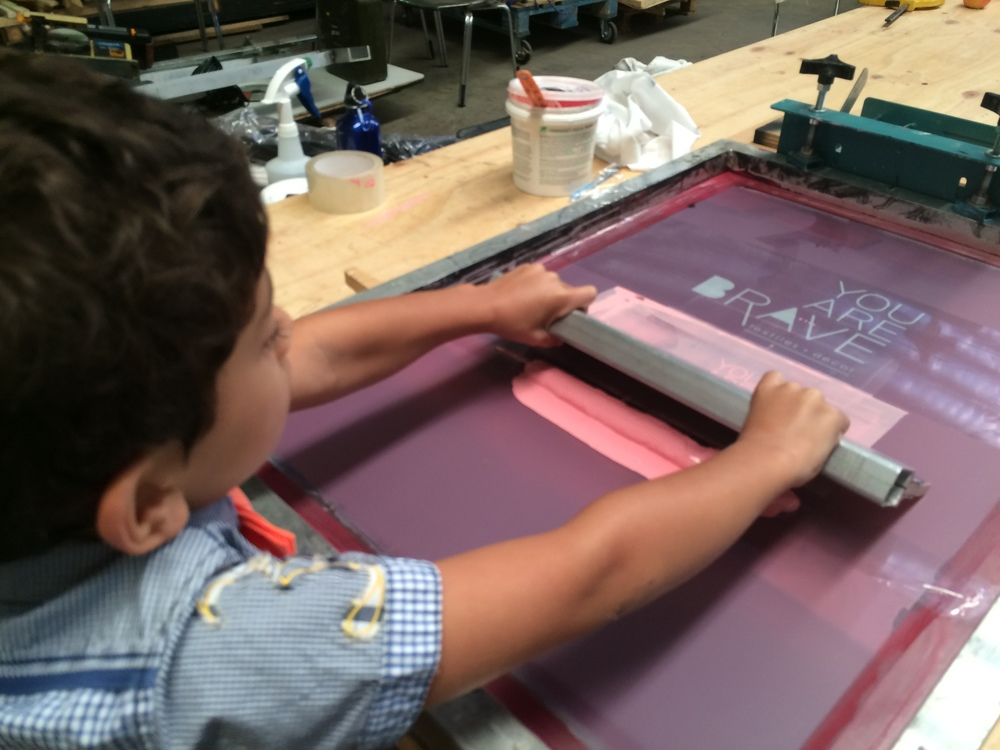 You Are Brave Kids Fabric Printing Classes