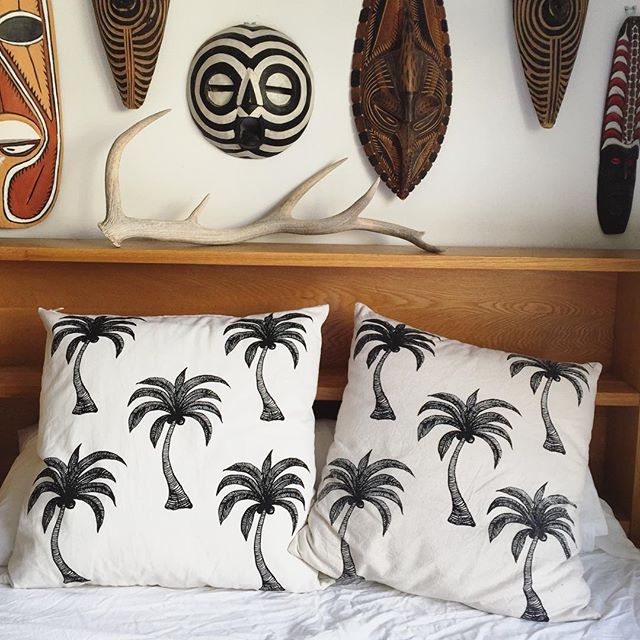Asha Kidd Mr Haddy Palm Tree Pillows